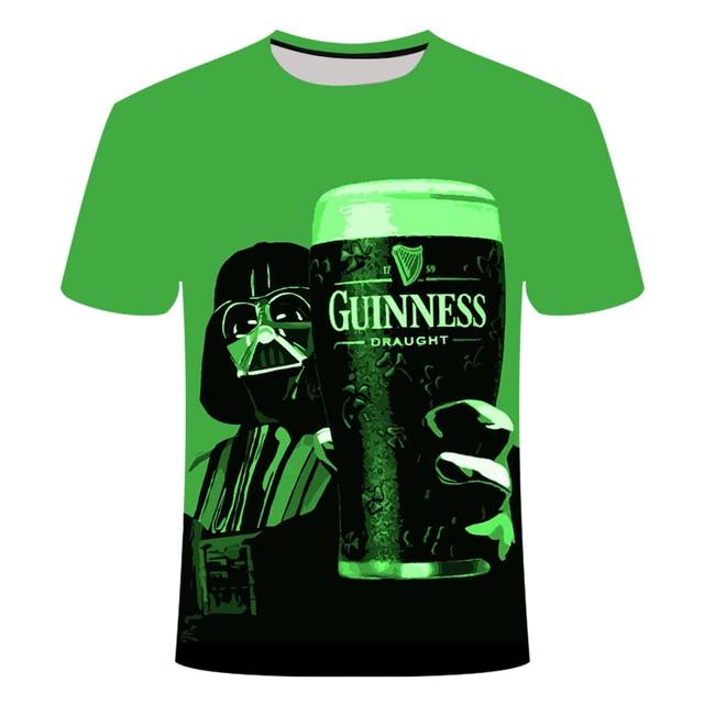 3D Beer Print T-shirt  2