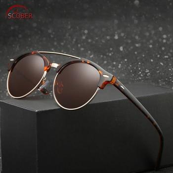 Das mulheres dos homens polarizados óculos de sol óculos polarizados óculos de sol Retro Rodada Do Vintage Custom Made Lente de Prescrição Miopia Menos-1 para- 6