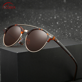 Retro Vintage Round men women polarized sun glasses sunglasses Custom Made Myopia Minus Prescription Lens -1 to -6