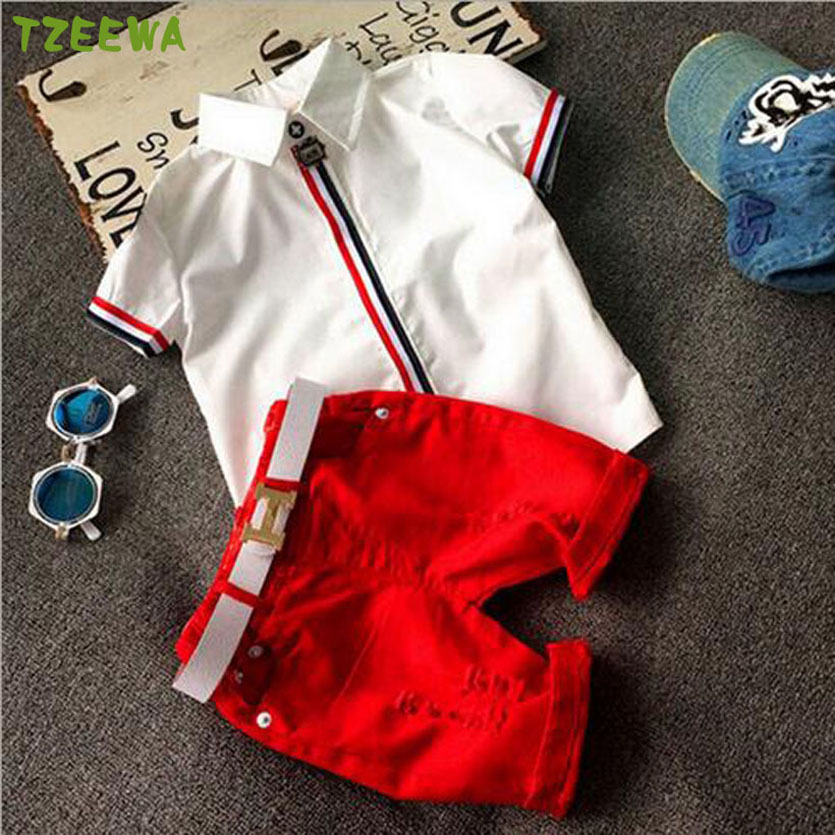 Fashion Summer Baby Boy Clothes Set Child Tops+Shorts Suit Kids Boys Clothing Set Children Roupas De Menino Summer Sets