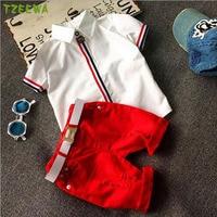 Fashion Summer Baby Boy Clothes Set Child Tops Shorts Suit Kids Boys Clothing Set Children Roupas