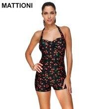 MATTIONI Women Swimwear One Piece Print Style Push Up Swimsuit Swimwear Print Sexy Style Women's Body Swimming Suit