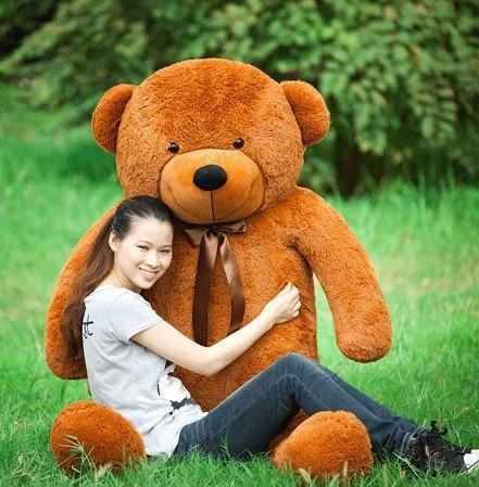 Frete Grátis 180 cm bichos de pelúcia brinquedos de pelúcia grande urso de peluche gigante marrom em tamanho natural bonecas miúdo meninas de brinquedo de presente 2018 New arrival - 4