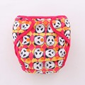 JinoBaby 1.0 Natural Bamboo Baby Couche Lavable One Size for NB to 17kgs (Cute Pandas)