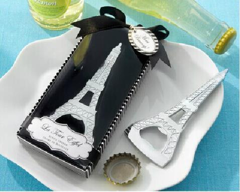regalos-La Tour Eiffel Tower Chrome Abrebotellas Boda Ducha nupcial - Para fiestas y celebraciones