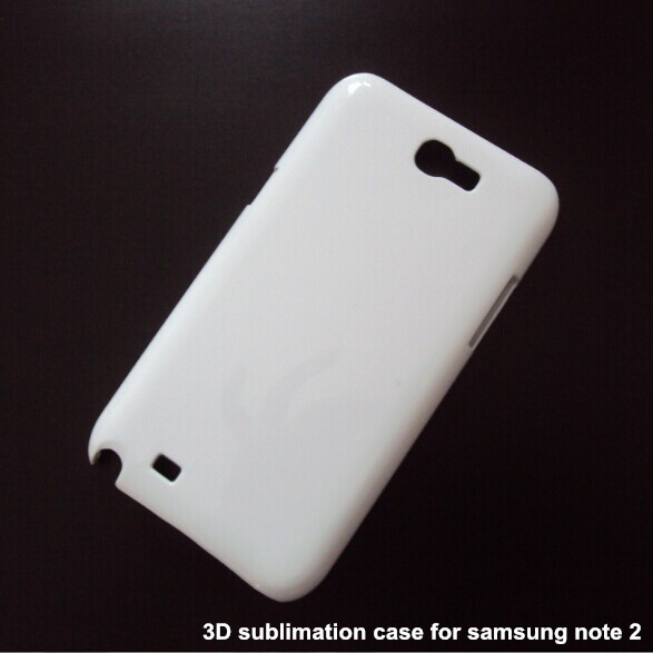 eab33a55c 3D Sublimation Heat Transfer Plastic Blank White Cell Phone Cases for  Samsung galaxy note 2 N7100 100pcs/lot free DHL shipping