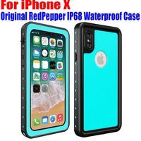 For IPhone X Case Original RedPepper Dot Series IP68 Waterproof Diving Underwater PC TPU Armor Cover
