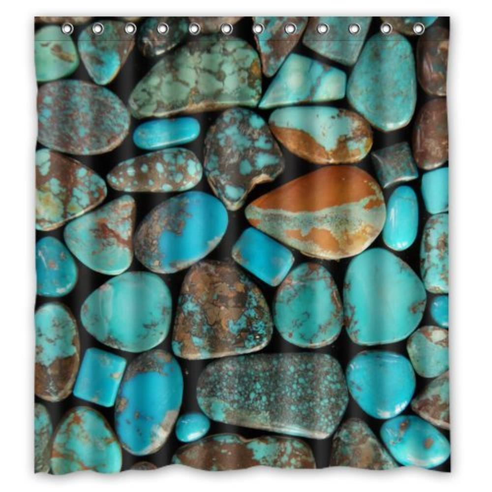 Popular Turquoise CurtainsBuy Cheap Turquoise Curtains Lots From - Brown and turquoise shower curtain