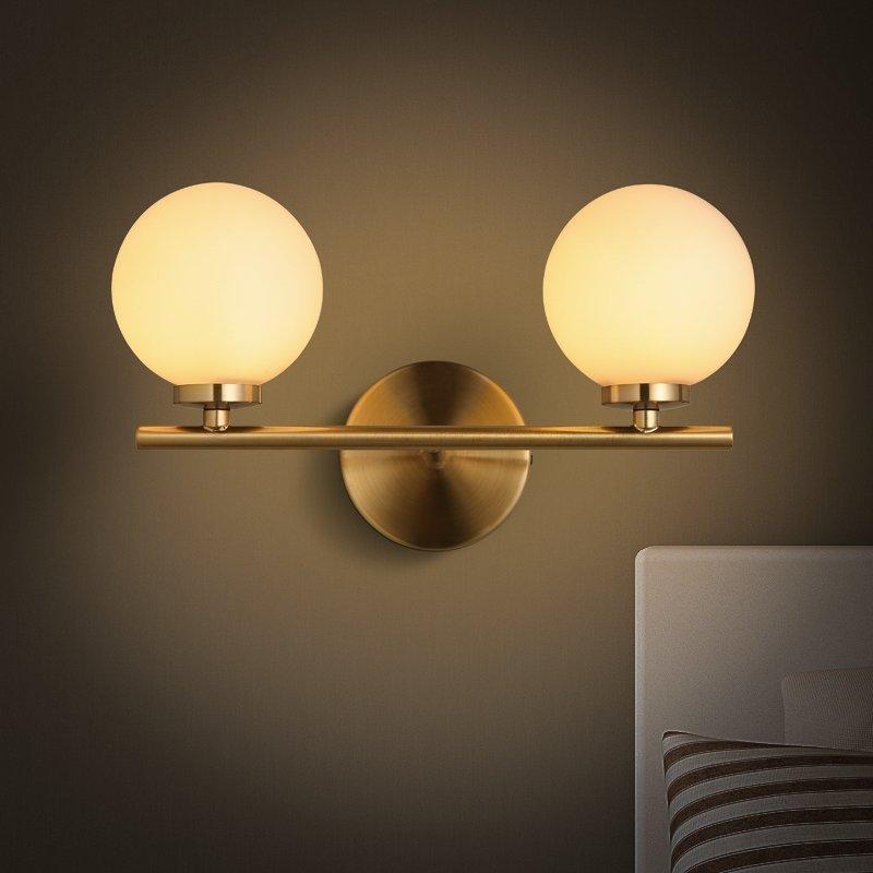 Modern Wall Lamp Glass Sconce Luminaire Ball Light Luminaria Abajur For Bathroom Bedroom Light E27 Base Home Lighting Lamparas