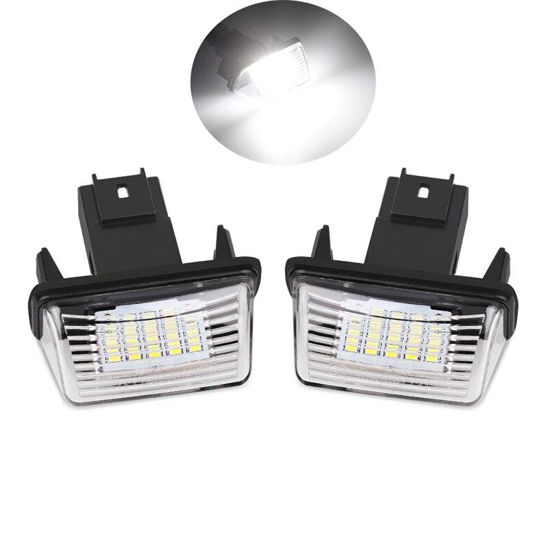1 комплект/2 шт. для CITROEN C3 C4 C5 Светодиодная лампа с номерным знаком, супер белый свет без ошибок для PEUGEOT 206 207 306 307