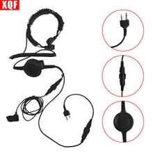 PTT MIC Military Bone Conduction Tactical Headphone Headset for Midland G5/G6 GXT400 LXT110 Ham Radio Walkie Talkie