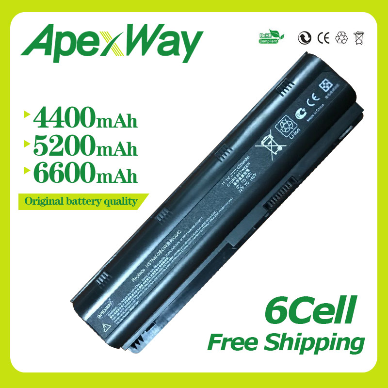 Apexway 11.1 v 6 cellulaire batterie pour HP DM4 MU06 MU09 CQ32 CQ42 G42 G72 G62 pour Pavilion g6s g6t g6x pour Presario CQ43 CQ56 CQ62