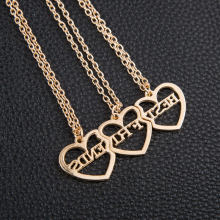 купить New good friend 3 piece set love pendant best friend necklace friendship gift alloy pendant necklace heart-shaped necklace в интернет-магазине