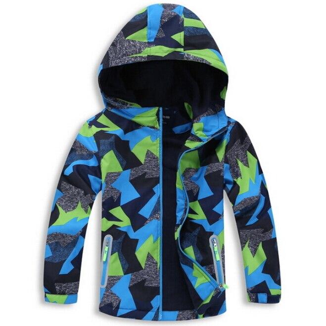 Водонепроницаемый индекс 5000 мм Куртки для маленьких мальчиков Детское пальто ветрозащитный теплый флис детская верхняя одежда для От 3 до 12...