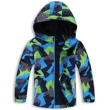 Водонепроницаемые куртки для маленьких мальчиков, 5000 мм Детское пальто ветрозащитная Теплая Флисовая верхняя одежда для детей, для От 3 до 12 лет
