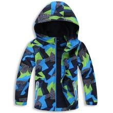 방수 색인 5000mm 아기 소년 자 켓 어린이 코트 Windproof 따뜻한 폴라 양 털 어린이 겉옷 3 12 년 오래 된