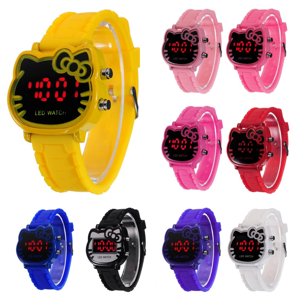2016 New Relogio Clock Girls Digital LED Watch Silicone Sports watch Date Multifunction Kids Watches Calculator Wrist Watch