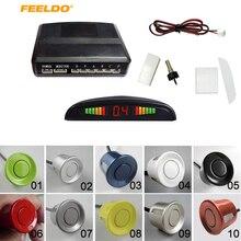 FEELDO Ayuda Del Coche LED Display 6 Sensores para Estacionarse en Reversa de Reserva Del Radar Del Sistema de $ Number Colores # J-889