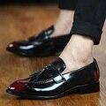 Hombres de Negocios Vestido de la Oficina Zapatos de Cuero Masculinos Zapatos Bullock Oxford Suave Borla de La Vendimia Ocasional Diario Zapatos Hombre Transpirable 73