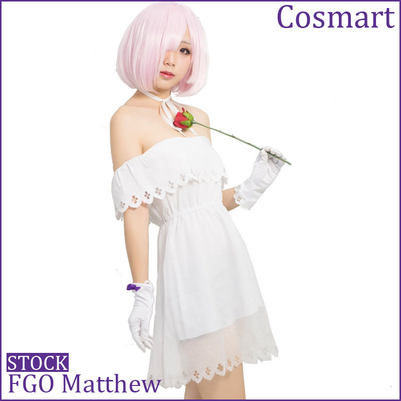 [Stock] Anime Fate Grand Order FGO Matthew Daily White Dress Uniform Halloween cosplay costume  For women Free ship
