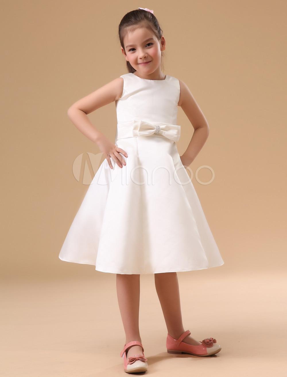 ヾ(^▽^)ノA-Line Flower Girls Dresses For Wedding Gowns Mid-Calf ...