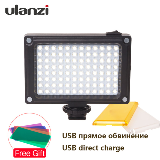Ulanzi 96 LED Video Light on-Camera External Battery Lamp for DSLR Camera Vlog Fill Light Photography Studio Light Accessories 2