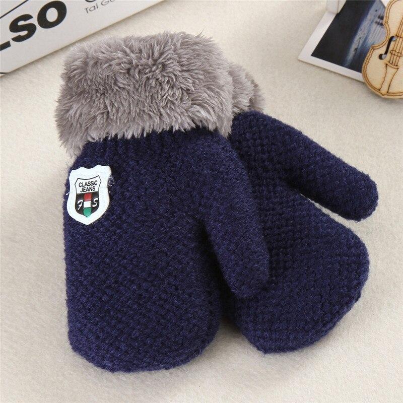 Boys' Baby Clothing Responsible Autumn Winter Warm Gloves Kids Cartoon Bear Mittens Knitting Thicken Full Finger Gloves Children Outdoor Ski Gloves Hand Warmer Accessories