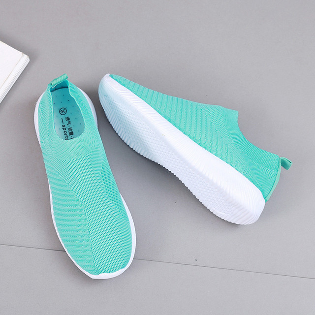 Summer breathable flat shoes women's sports shoes knitted vulcanized shoes mesh anti-slip socks sports shoes сникерсы женские#15 3