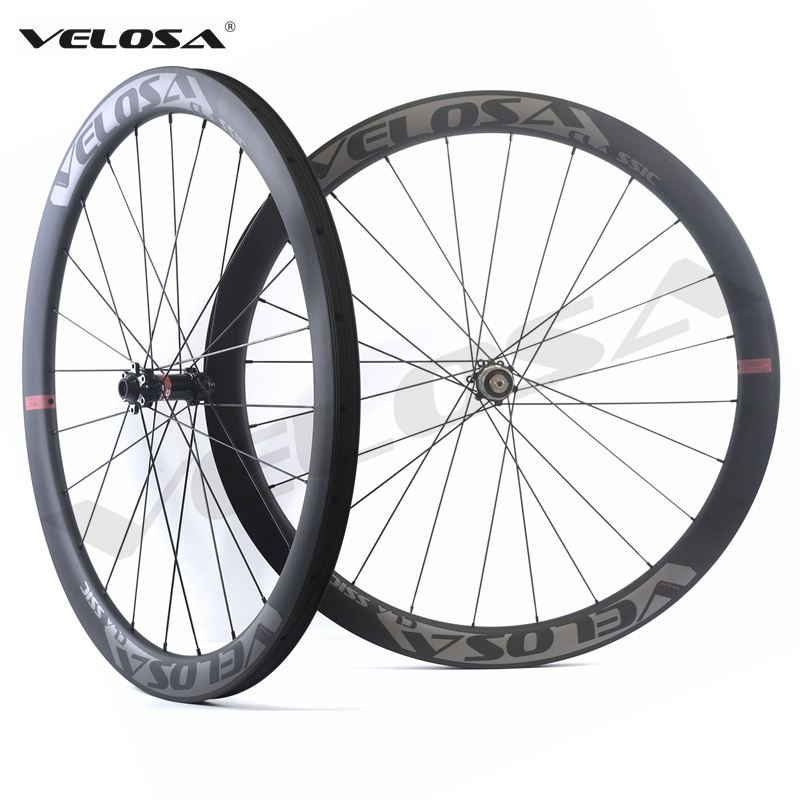 Velosa CX45-SL Road Disc Brake carbon wheelset,45mm hookless,700C cyclocross Gravel wheel,tubeless ready 6-bolt/center lock