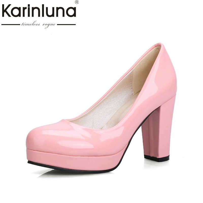 small big size 32-43 fashion sexy OL pumps lady round toe solid slip on platform shoes woman spring summer women party wedding newest lady spring autumn shoes slip on lady soft leather flat platform fashion casual shoes women round toe loafers size 34 43