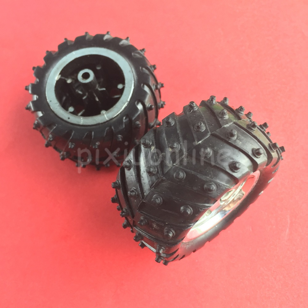 2 шт. j252y 3*55 DIY Модель внедорожник колеса резиновые шины и серебрение концентратора DIY модель делая Бесплатная доставка Россия