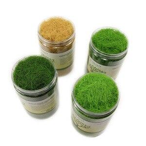 Image 2 - 4 בקבוקי 35g 12mm סטטי דשא אבקת מעורב צבעים ירוק דשא אבקת צאן דשא מחצלת דגם רכבת פריסה CFA4