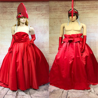 DC05 Party cosplay ballroom dance stage cotumes female red dress men wears outfits show dress dj headdress bar clothe model club