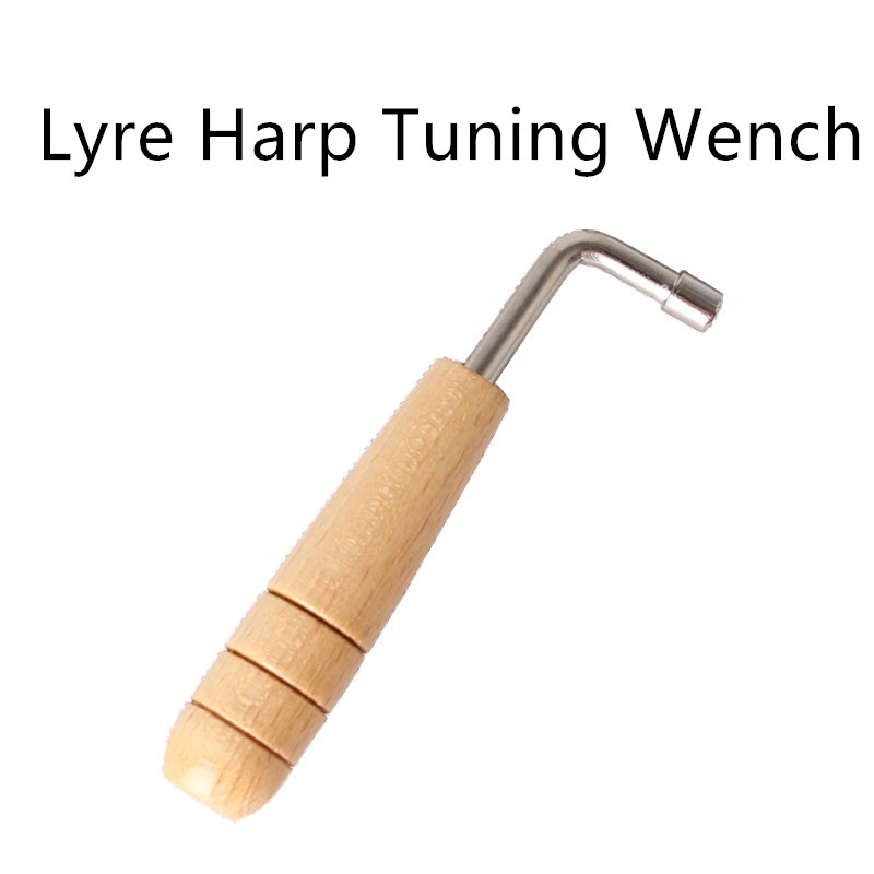 Lyre Harp Tuning Wrench Tuner Layya Adjustment Lever Lyre Wooden Handle Adjustment Tool Inner 4 Angle Wrench