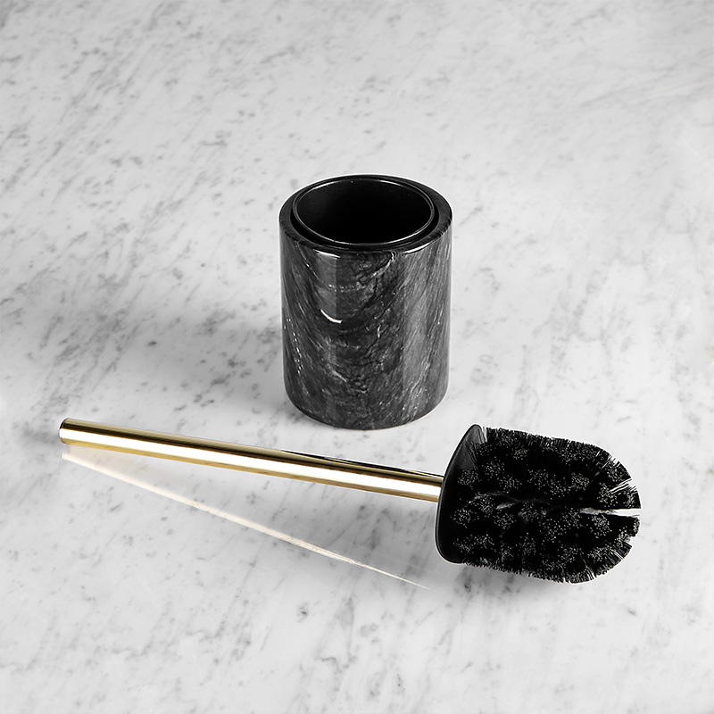 A1 Natural marble horse stainless steel barrel brush black toilet cleaning brush long handle toilet cleaning LO524334 cy668 mini car cleaning dusting brush w grip handle black grey