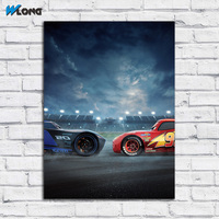 Printing Car Lightning McQueen Jackson Storm Two Wall Art Picture Home Decor Living Room Modern Canvas