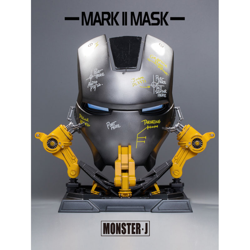 Book Monster·J Iron Man MK2 Alloy Mask 1/1 Face A Platform Collectibles