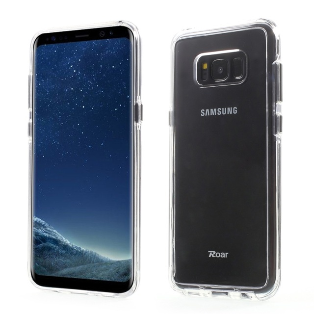 Shell for Galaxy S8 parachoque ROAR KOREA Hybrid 2-in-1 TPU Bumper + Hard PC Back Phone Case for Samsung Galaxy S8 SM-G950
