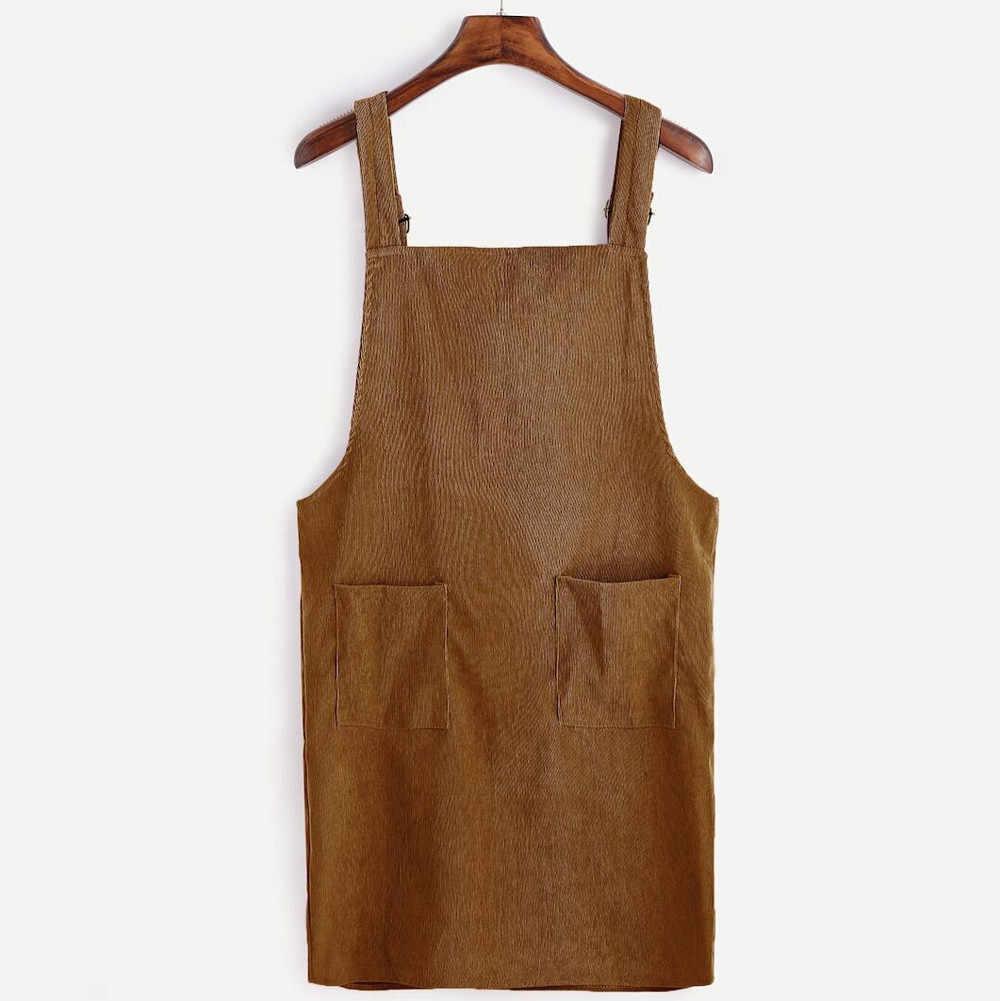 Женское платье с большим карманом осень зима вельветовые ремни короткое платье карман прямой жилет платье женское платье Vestidos