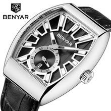 цена BENYAR Men's Watches Luxury Brand Quartz Watch Men Military Leather Male Sports Watch Waterproof Clock Relogio Masculino Saati онлайн в 2017 году