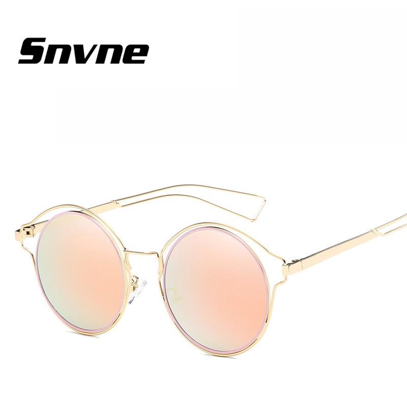 Snvne Sun glasses Metal round frame leisure shopping sunglasses for men women Brand design lunette de soleil feminino KK565