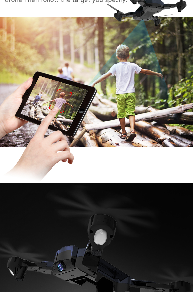 F196 RC Drone With Camera 2MP HD Quadrocopter Altitude Hold Optical Flow Positioning Foldable RC Helicopter Dron VS SG900 XS812 9