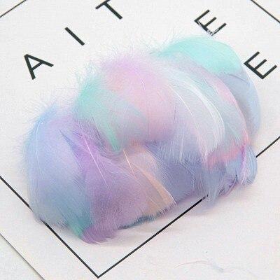 Натуральные перья лебедя 4-7 см 1-2 дюйма маленькие плавающие Шлейфы гусиное перо цветной шлейф для украшения рукоделия 100 шт - Цвет: warm mix  100pcs