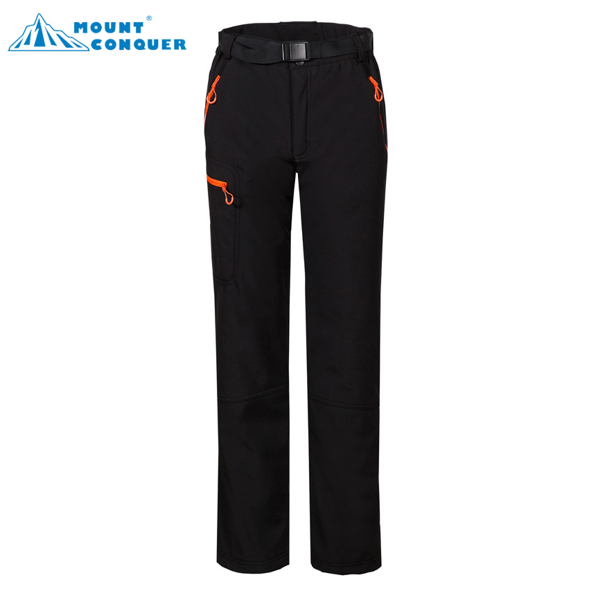 Mammoth Women's Outdoor Sportswear Hiking Trekking Camping Climbing Skiing Female Thermal Trousers Winter Softshell Fleece Pants rax 2015 thermal fleece hiking pants for men women winter outdoor sports warm fleece trousers fleece camping pants 54 4f089