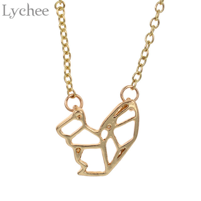 Lychee cute squirrel pendant hollow necklace gold silver color lychee cute squirrel pendant hollow necklace gold silver color animal necklace fashion jewelry for women aloadofball Image collections