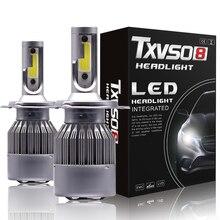 H1 H3 H7 LED مصباح أضاءه أمامي سيارة ضوء H13 H27 880 5202 9004 9007 hb4 9006 9005 hb3 مصباح وسيس Led h4 الفقرة السيارات الضباب H11 6000K 12V
