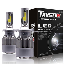 H1 H3 H7 светодиодный светильник, лампа для автомобиля, светильник H13 H27 880 5202 9004 9007 hb4 9006 9005 hb3, лампа Luces, светодиодный h4 para, автомобильная противотуманная фара H11 6000K 12V