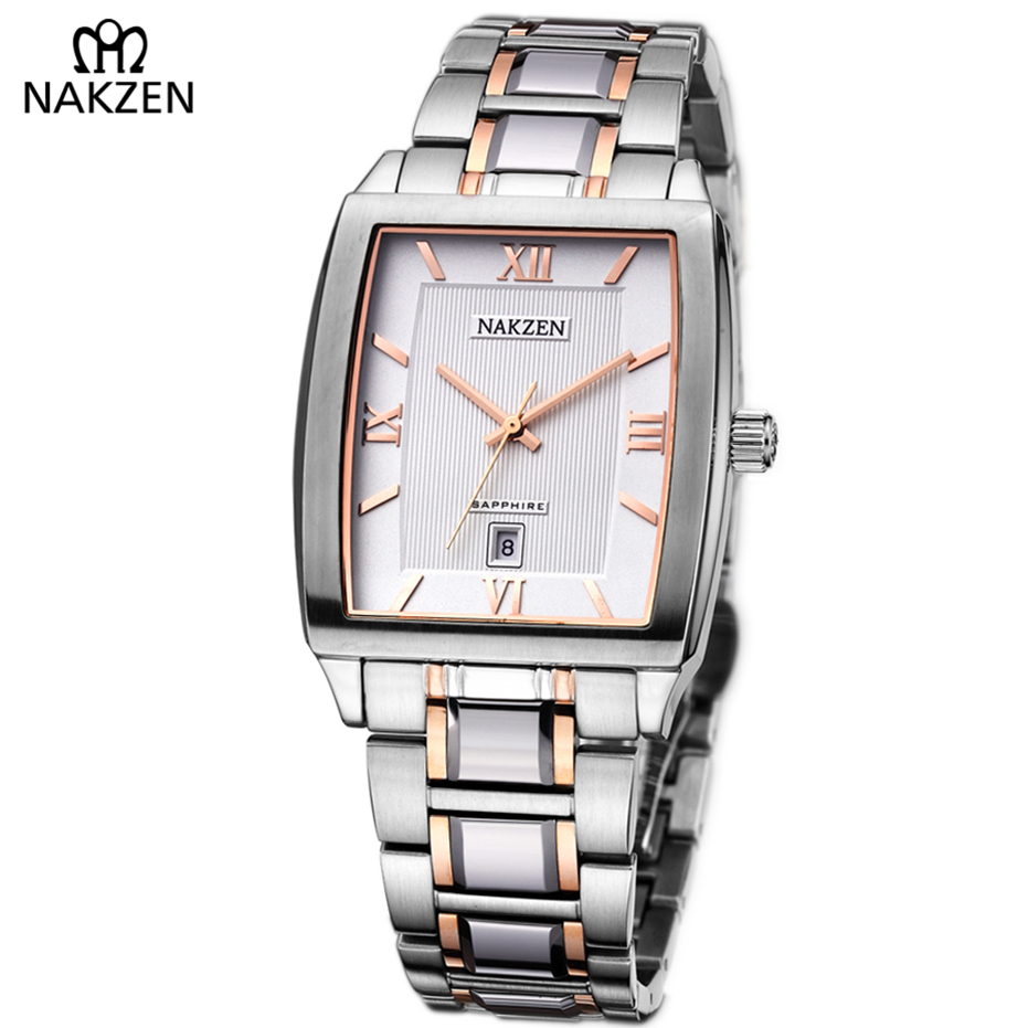 все цены на NAKZEN Top Luxury Brand Famous Men Quartz Watch Fashion Business Nice trend Square Orologio Uomo Stainless Waterproof Clock Gift