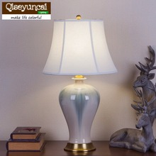 Modern copper ceramic table lamp living room bedroom study decorative