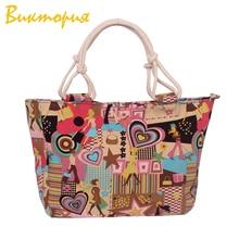 CHARA'S BAG barnd Designers handbags Cartoon creativity printing women's Shoulder Bags student Unisex canvas book bags стоимость